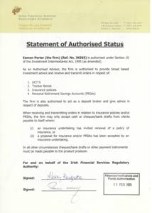Link to Aspire Wealth Management's Statement of Authorised Status